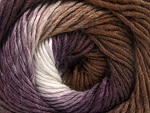 Fiber Content 50% Acrylic, 50% Wool, White, Purple, Brand ICE, Brown, Yarn Thickness 2 Fine  Sport, Baby, fnt2-55383