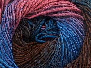 Fiber Content 50% Acrylic, 50% Wool, Rose Pink, Lilac, Brand ICE, Brown, Blue, Yarn Thickness 2 Fine  Sport, Baby, fnt2-55456