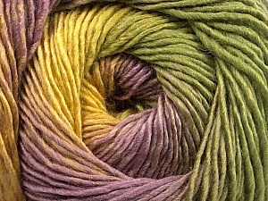 Fiber Content 50% Acrylic, 50% Wool, Yellow, Lilac, Khaki, Brand ICE, Yarn Thickness 2 Fine  Sport, Baby, fnt2-55461