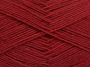 Fiber Content 75% Superwash Wool, 25% Polyamide, Brand ICE, Burgundy, Yarn Thickness 1 SuperFine  Sock, Fingering, Baby, fnt2-55473