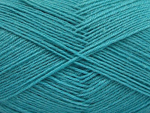 Fiber Content 75% Superwash Wool, 25% Polyamide, Turquoise, Brand ICE, Yarn Thickness 1 SuperFine  Sock, Fingering, Baby, fnt2-55477