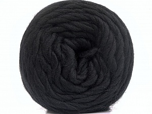 Fiber Content 100% Wool, Brand ICE, Black, Yarn Thickness 6 SuperBulky  Bulky, Roving, fnt2-55479