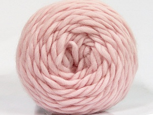 Fiber Content 100% Wool, Light Pink, Brand ICE, Yarn Thickness 6 SuperBulky  Bulky, Roving, fnt2-55491