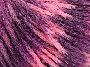 Fiber Content 60% Acrylic, 40% Wool, Pink Shades, Lilac Shades, Brand ICE, Yarn Thickness 3 Light  DK, Light, Worsted, fnt2-55531