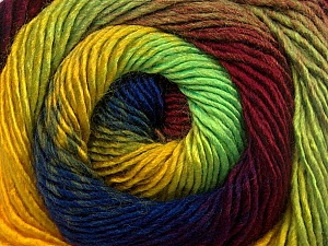 Fiber Content 50% Acrylic, 50% Wool, Yellow, Neon Green, Brand ICE, Burgundy, Blue, Yarn Thickness 2 Fine  Sport, Baby, fnt2-55563