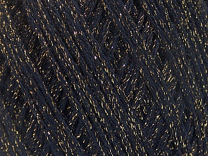 Fiber Content 40% Acrylic, 40% Wool, 20% Metallic Lurex, Brand ICE, Gold, Black, Yarn Thickness 3 Light  DK, Light, Worsted, fnt2-55622