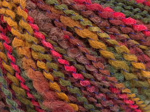 Fiber Content 82% Acrylic, 8% Polyamide, 10% Polyester, Pink, Maroon, Brand ICE, Green, Yarn Thickness 4 Medium  Worsted, Afghan, Aran, fnt2-55638