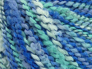 Fiber Content 82% Acrylic, 8% Polyamide, 10% Polyester, Turquoise, Mint Green, Brand ICE, Blue Shades, Yarn Thickness 4 Medium  Worsted, Afghan, Aran, fnt2-55644