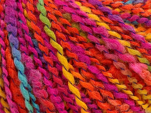Fiber Content 82% Acrylic, 8% Polyamide, 10% Polyester, Yellow, Turquoise, Orange, Brand ICE, Fuchsia, Yarn Thickness 4 Medium  Worsted, Afghan, Aran, fnt2-55648