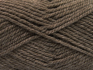 Bulky  Fiber Content 100% Acrylic, Brand ICE, Brown, Yarn Thickness 5 Bulky  Chunky, Craft, Rug, fnt2-55652