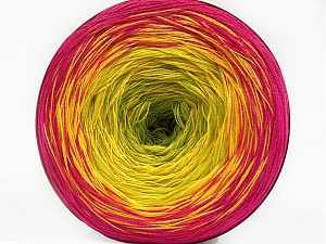 Fiber Content 50% Acrylic, 50% Cotton, Yellow, Brand ICE, Green, Fuchsia, Yarn Thickness 2 Fine  Sport, Baby, fnt2-55677