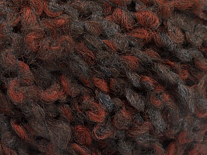 Fiber Content 55% Wool, 27% Acrylic, 18% Polyamide, Brand ICE, Brown Shades, Anthracite, Yarn Thickness 5 Bulky  Chunky, Craft, Rug, fnt2-55938