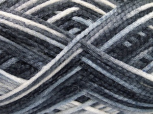 Fiber Content 50% Wool, 40% Polyamide, 10% Acrylic, Brand ICE, Grey Shades, Yarn Thickness 3 Light  DK, Light, Worsted, fnt2-56117