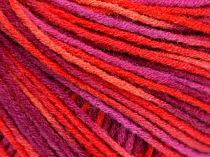 Fiber Content 50% Acrylic, 50% Wool, Salmon, Purple, Pink, Brand ICE, Yarn Thickness 3 Light  DK, Light, Worsted, fnt2-56207