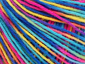 Fiber Content 50% Acrylic, 50% Wool, Yellow, Turquoise, Pink, Brand ICE, Blue, Yarn Thickness 3 Light  DK, Light, Worsted, fnt2-56210