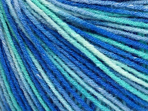Fiber Content 50% Acrylic, 50% Wool, Turquoise Shades, Brand ICE, Blue, Yarn Thickness 3 Light  DK, Light, Worsted, fnt2-56211