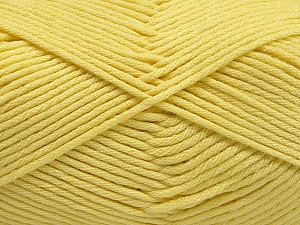 Fiber Content 50% SuperFine Nylon, 50% SuperFine Acrylic, Light Yellow, Brand ICE, Yarn Thickness 4 Medium  Worsted, Afghan, Aran, fnt2-56284