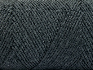 Fiber Content 50% Wool, 50% Acrylic, Brand ICE, Dark Grey, Yarn Thickness 3 Light  DK, Light, Worsted, fnt2-56426