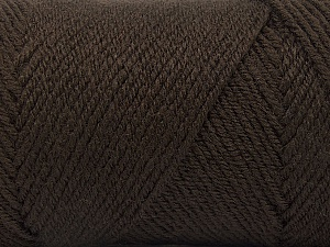 Fiber Content 50% Wool, 50% Acrylic, Brand ICE, Coffee Brown, Yarn Thickness 3 Light  DK, Light, Worsted, fnt2-56427