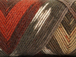 Fiber Content 50% Wool, 50% Acrylic, Brand ICE, Cream, Copper, Brown Shades, Yarn Thickness 3 Light  DK, Light, Worsted, fnt2-56449