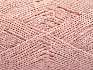Fiber Content 50% SuperFine Acrylic, 50% SuperFine Nylon, Light Pink, Brand ICE, Yarn Thickness 4 Medium  Worsted, Afghan, Aran, fnt2-56456