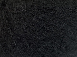 Knitted as 4 ply Fiber Content 40% Polyamide, 30% Kid Mohair, 30% Acrylic, Brand ICE, Black, Yarn Thickness 1 SuperFine  Sock, Fingering, Baby, fnt2-56513