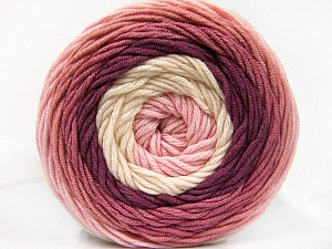 Fiber Content 100% Acrylic, Pink Shades, Orchid, Brand ICE, Cream, Yarn Thickness 4 Medium  Worsted, Afghan, Aran, fnt2-56547