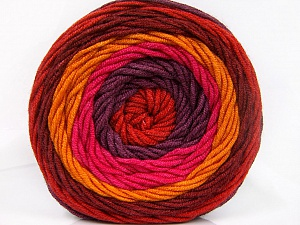 Fiber Content 100% Acrylic, Red, Pink, Orange, Maroon, Brand ICE, Burgundy, Yarn Thickness 4 Medium  Worsted, Afghan, Aran, fnt2-56549