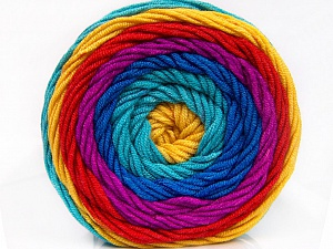 Fiber Content 100% Acrylic, Turquoise, Red, Brand ICE, Gold, Fuchsia, Blue, Yarn Thickness 4 Medium  Worsted, Afghan, Aran, fnt2-56556