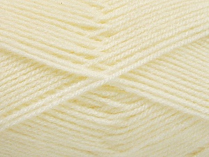 Fiber Content 100% Acrylic, Ivory, Brand ICE, Yarn Thickness 3 Light  DK, Light, Worsted, fnt2-56560
