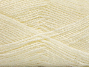 Fiber Content 100% Acrylic, Light Cream, Brand ICE, Yarn Thickness 3 Light  DK, Light, Worsted, fnt2-56561
