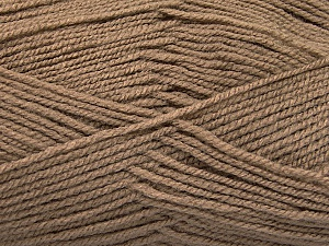 Fiber Content 100% Acrylic, Brand ICE, Camel, Yarn Thickness 3 Light  DK, Light, Worsted, fnt2-56562
