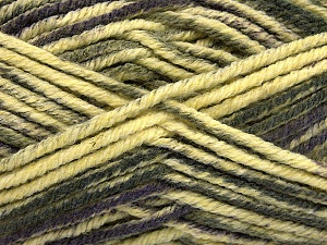 Fiber Content 80% Acrylic, 20% Polyamide, Yellow, Purple, Brand ICE, Grey, Yarn Thickness 5 Bulky  Chunky, Craft, Rug, fnt2-56582