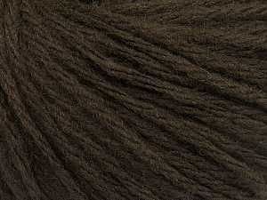 Fiber Content 50% Wool, 50% Acrylic, Brand ICE, Dark Brown, Yarn Thickness 4 Medium  Worsted, Afghan, Aran, fnt2-56734