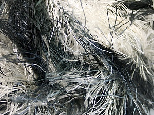 Fiber Content 100% Polyester, White, Brand ICE, Grey Shades, Black, Yarn Thickness 6 SuperBulky  Bulky, Roving, fnt2-56856