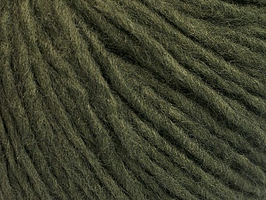 Fiber Content 50% Acrylic, 50% Wool, Brand ICE, Dark Green, Yarn Thickness 4 Medium  Worsted, Afghan, Aran, fnt2-57005