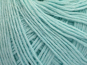 Fiber Content 100% Cotton, Light Mint Green, Brand ICE, Yarn Thickness 1 SuperFine  Sock, Fingering, Baby, fnt2-57157