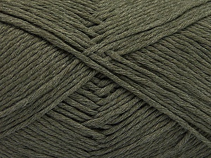 Please note that the yarn weight and the ball length may vary from one color to another for this yarn. Fiber Content 100% Cotton, Brand ICE, Dark Khaki, Yarn Thickness 3 Light  DK, Light, Worsted, fnt2-57159