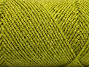 Fiber Content 50% Acrylic, 50% Wool, Brand ICE, Green, Yarn Thickness 3 Light  DK, Light, Worsted, fnt2-57175