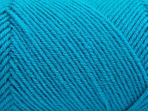 Fiber Content 50% Acrylic, 50% Wool, Turquoise, Brand ICE, Yarn Thickness 3 Light  DK, Light, Worsted, fnt2-57179