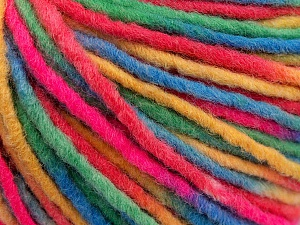 Fiber Content 60% Acrylic, 40% Wool, Yellow, Brand ICE, Green, Fuchsia, Blue, Yarn Thickness 5 Bulky  Chunky, Craft, Rug, fnt2-57250