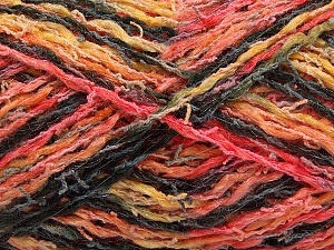 Fiber Content 45% Acrylic, 35% Cotton, 20% Polyamide, Salmon, Orange, Brand ICE, Gold, Black, Yarn Thickness 3 Light  DK, Light, Worsted, fnt2-57263