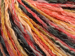 Fiber Content 50% Cotton, 50% Acrylic, Yellow, Salmon, Brand ICE, Black, Yarn Thickness 4 Medium  Worsted, Afghan, Aran, fnt2-57273
