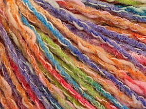 Fiber Content 50% Acrylic, 50% Cotton, Salmon Shades, Orange, Lavender, Brand ICE, Green, Yarn Thickness 4 Medium  Worsted, Afghan, Aran, fnt2-57288