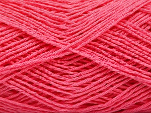 Fiber Content 100% Cotton, Brand ICE, Candy Pink, Yarn Thickness 2 Fine  Sport, Baby, fnt2-57327