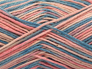 Fiber Content 100% Acrylic, Pink Shades, Jeans Blue, Brand ICE, Yarn Thickness 2 Fine  Sport, Baby, fnt2-57364