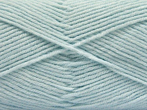 Fiber Content 80% Acrylic, 20% Polyamide, Brand ICE, Baby Blue, Yarn Thickness 3 Light  DK, Light, Worsted, fnt2-57382