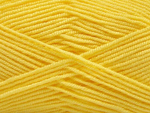 Fiber Content 50% Bamboo, 50% Acrylic, Yellow, Brand ICE, Yarn Thickness 2 Fine  Sport, Baby, fnt2-57393