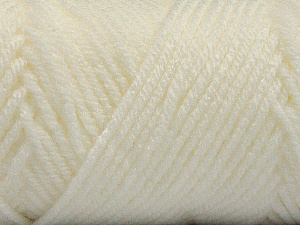 Items made with this yarn are machine washable & dryable. Fiber Content 100% Acrylic, White, Brand ICE, Yarn Thickness 4 Medium  Worsted, Afghan, Aran, fnt2-57405