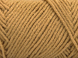 Items made with this yarn are machine washable & dryable. Fiber Content 100% Acrylic, Light Brown, Brand ICE, Yarn Thickness 4 Medium  Worsted, Afghan, Aran, fnt2-57410